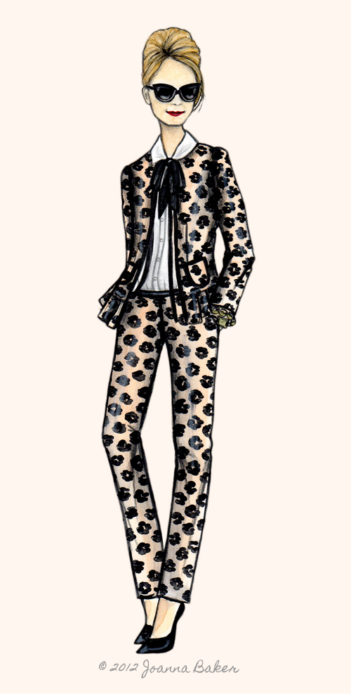 Blaire Eadie Fashion Illustration by Joanna Baker