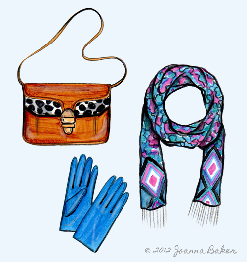Fall Color Fashion Illustration by Joanna Baker
