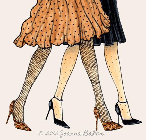 Fall Polka Dots Fashion Illustration by Joanna Baker