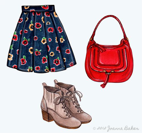 Fall Fashion Illustrations by Joanna Baker