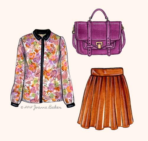 Proenza Fashion Illustration by Joanna Baker