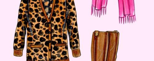 Fall Layers Fashion Illustration by Joanna Baker
