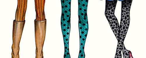 Fall Tights Fashion Illustration by Joanna Baker