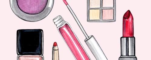 Kiss and Makeup Beauty Illustration by Joanna Baker