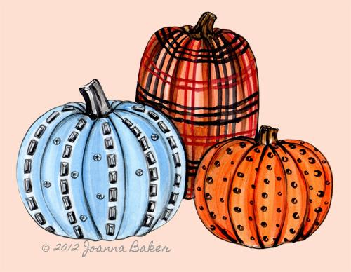 Fashion Pumpkin Illustrations by Joanna Baker
