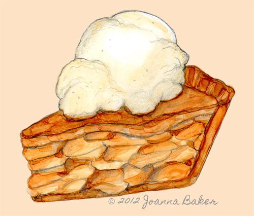 Apply Pie Illustration by Joanna Baker