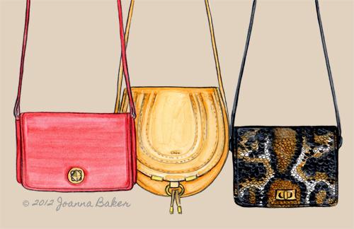 Crossbody Bags - Fashion Illustration by Joanna Baker