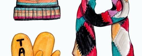 Kate Spade Winter Weather Fashion Illustration by Joanna Baker