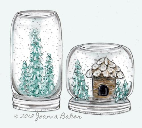 Snow Globe Illustration by Joanna Baker