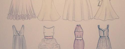 Wedding Dress Designs by Joanna Baker Illustration
