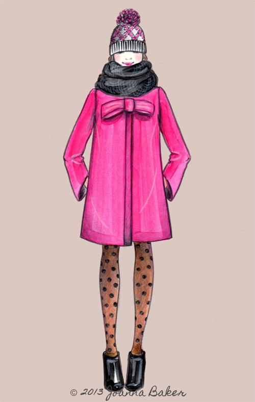Candy Coat Fashion Illustration by Joanna Baker