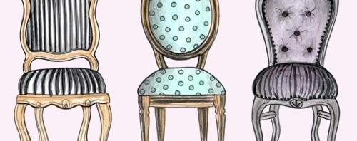 Fancy Chairs Illustration by Joanna Baker