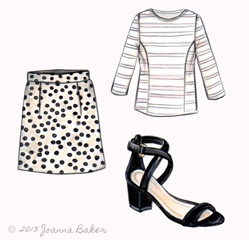JCrew Fashion Illustration by Joanna Baker