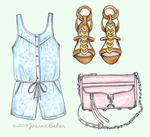 May Day Wish List Fashion Illustration by Joanna Baker