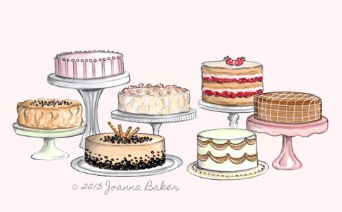 Cake Tasting Illustration by Joanna Baker
