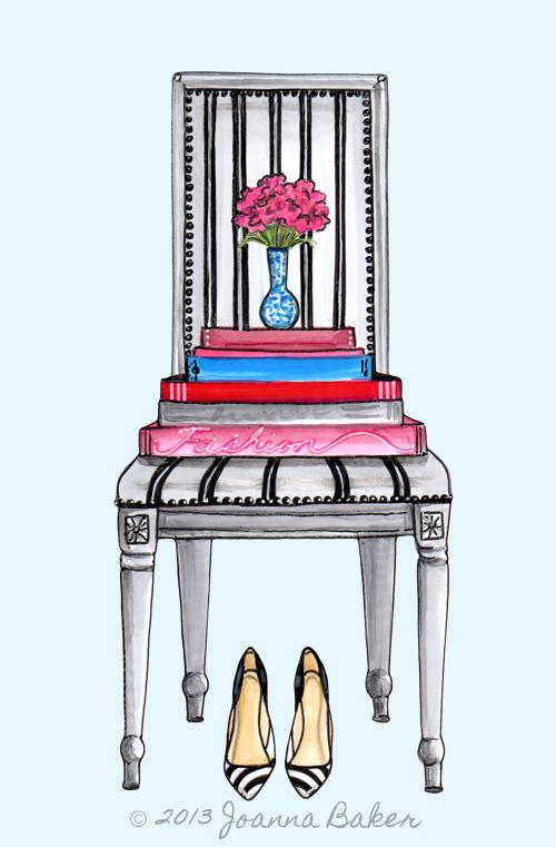 Fashion Chair Illustration by Joanna Baker