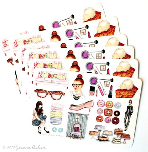 Fashion Illustration Postcards by Joanna Baker