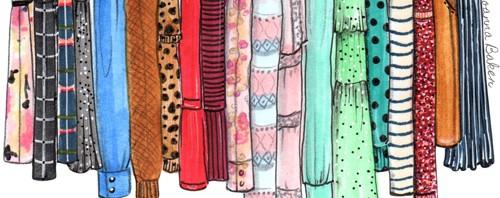 Closet Fashion Illustration by Joanna Baker