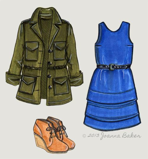 Fall Wishlist Fashion Illustration by Joanna Baker