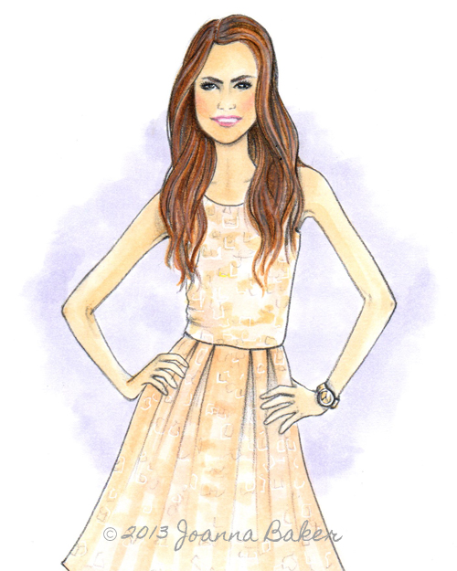 Custom Taylor Fashion Illustration by Joanna Baker