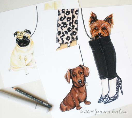 City Dog Illustrations by Joanna Baker