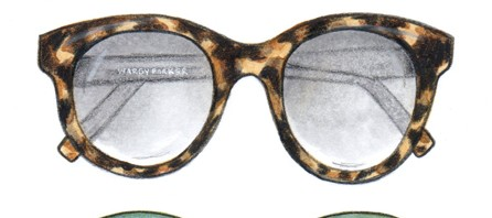 Warby Parker Fashion Illustration by Joanna Baker