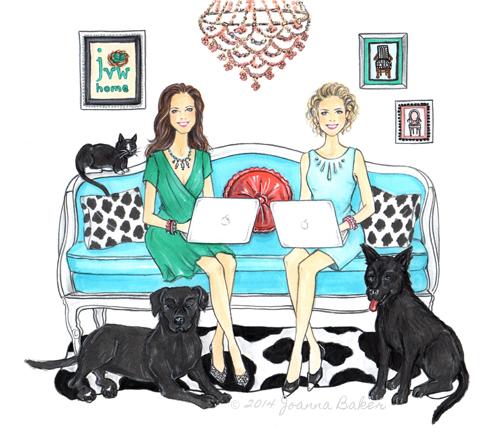 Custom Illustration for JVW Home by Joanna Baker