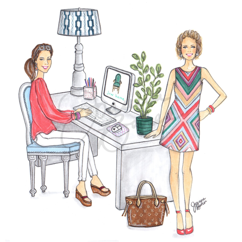 Commissioned Website Illustration for JVW Home