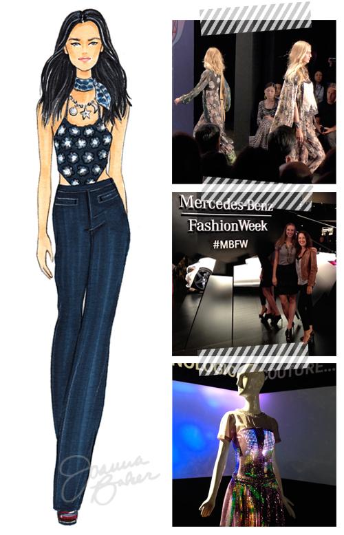Anna Sui Fashion Week Look Joanna Baker Illustration