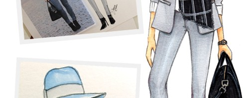 Brooklyn Blonde Blogger Inspired Fashion Illustration Joanna Baker
