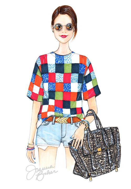 Miss Ladyfinger Blogger Inspired Fashion Illustration by Joanna Baker