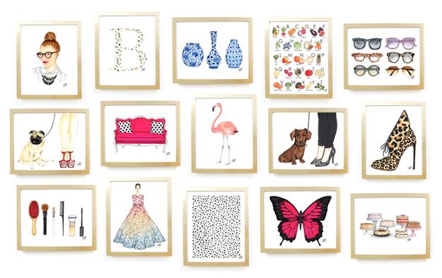 Illustration Gallery Wall by Joanna Baker