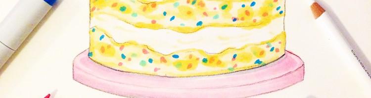 Birthday Cake Illustration by Joanna Baker