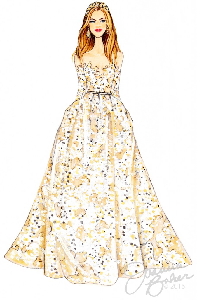 Elie Saab Couture Fashion Illustration by Joanna Baker