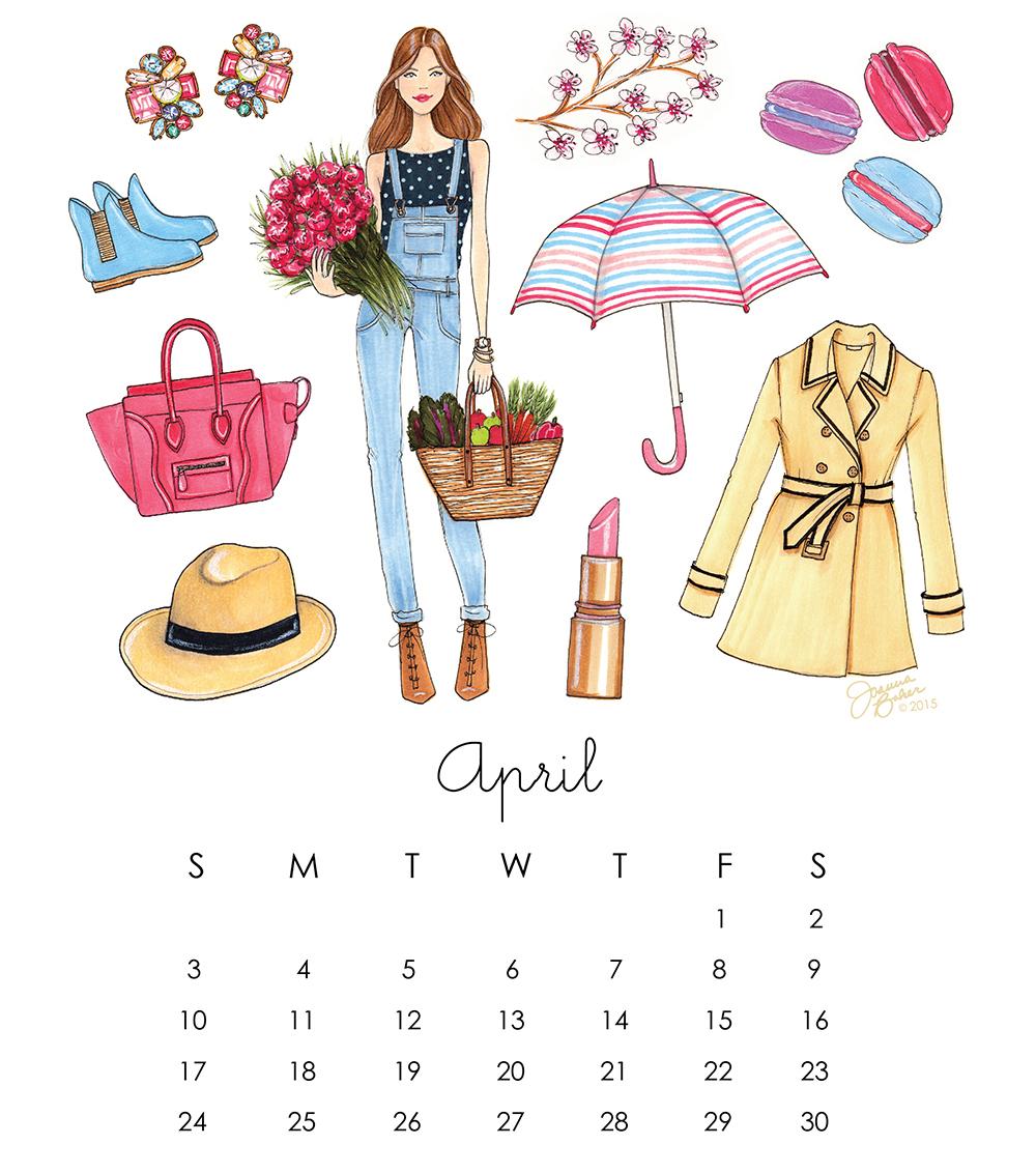 Favorite Things Illustrated Calendar - April