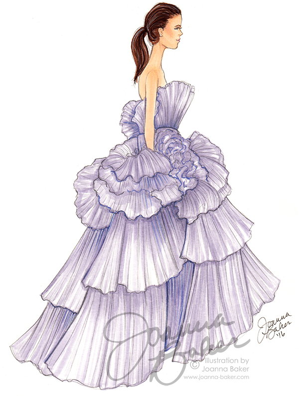 Giambattista Valli Couture Sketch by Joanna Baker