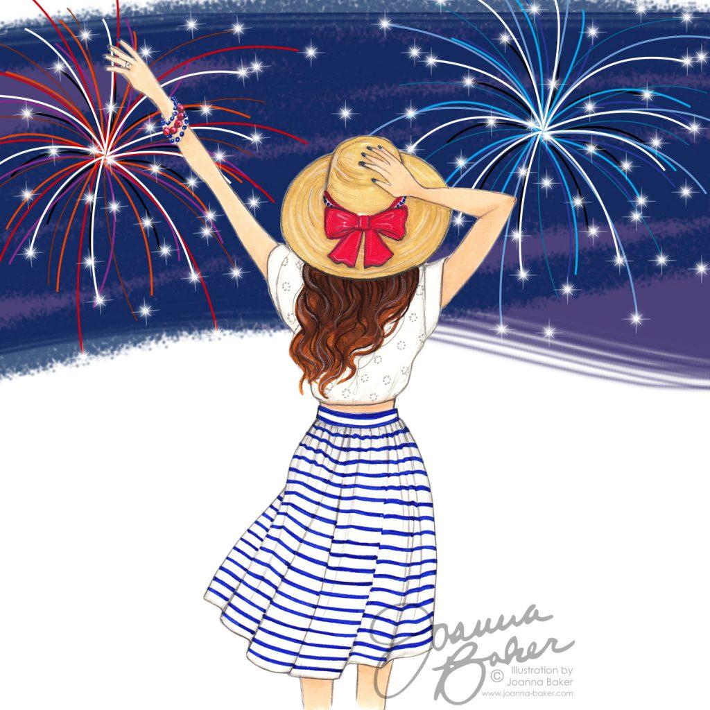 Happy Fourth! Illustration by Joanna Baker