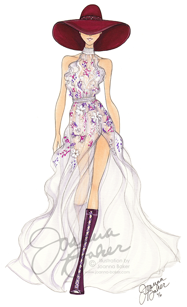 Ralph & Russo Couture Sketch by Joanna Baker