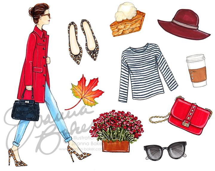 Happy September! Illustration by Joanna Baker