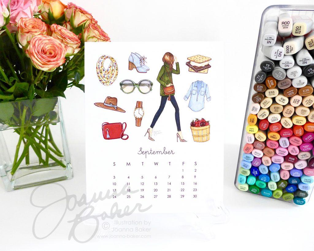 Joanna Baker Favorite Things Illustrated Calendar for 2017