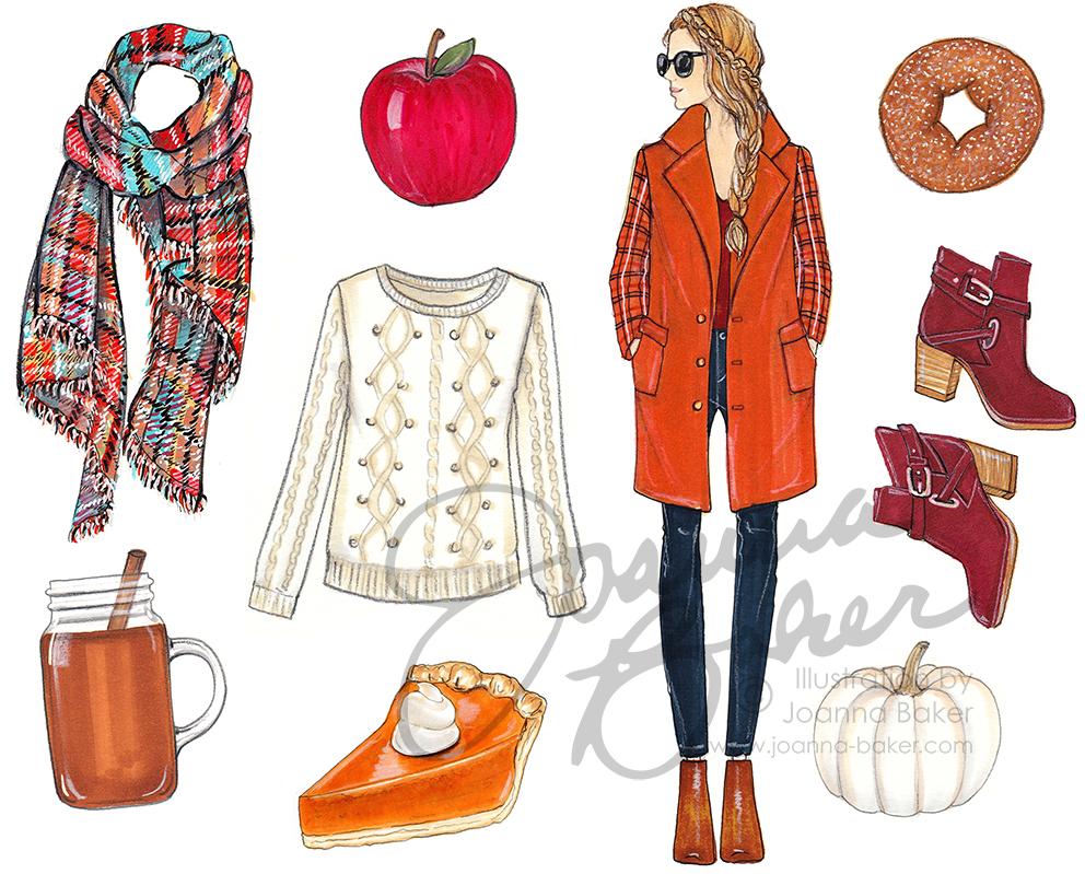 October Favorite Things Illustration by Joanna Baker
