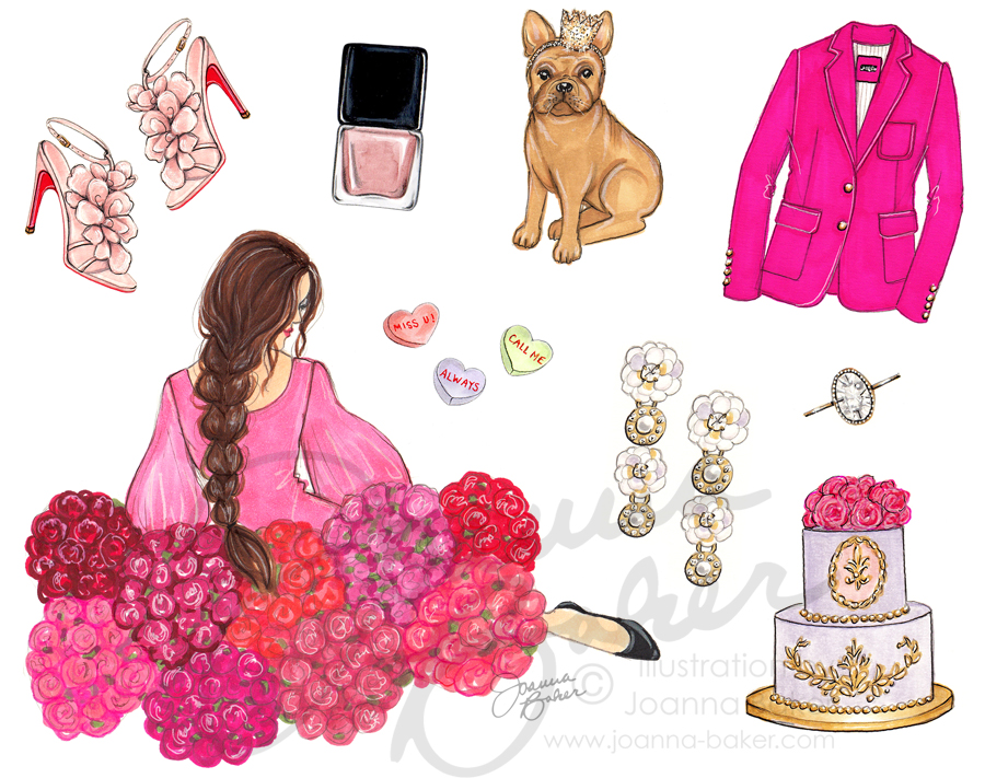 February Favorite Things Illustration by Joanna Baker