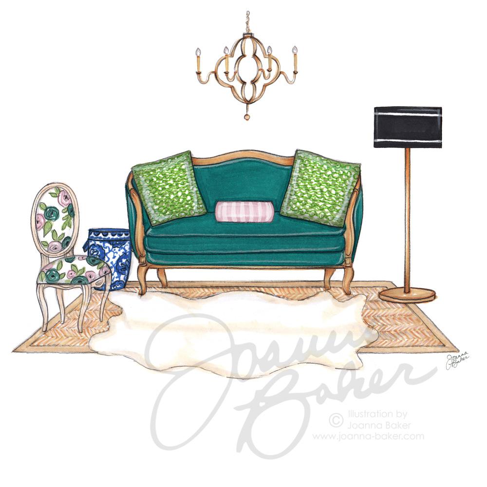 Commissioned Custom Illustration for JVW Home