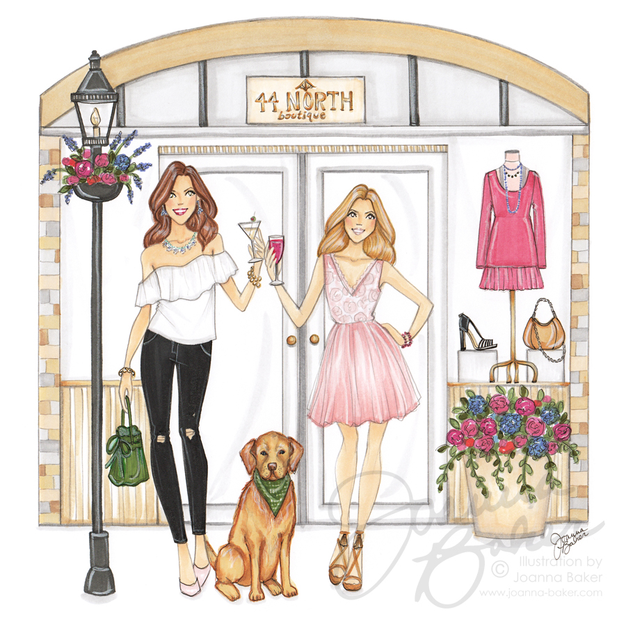 Commissioned Custom Illustration for 44 North Boutique