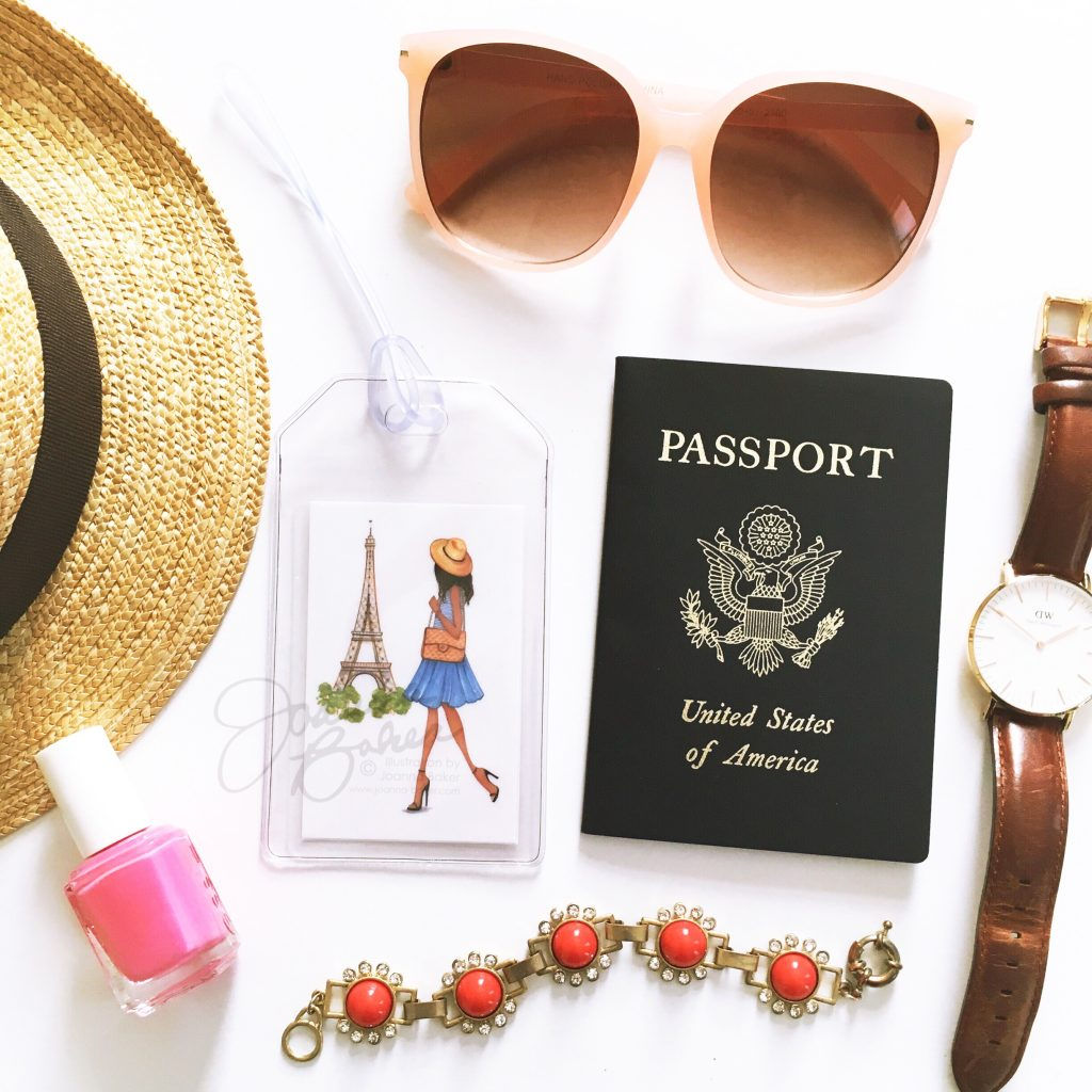 Illustrated Luggage Tags by Joanna Baker