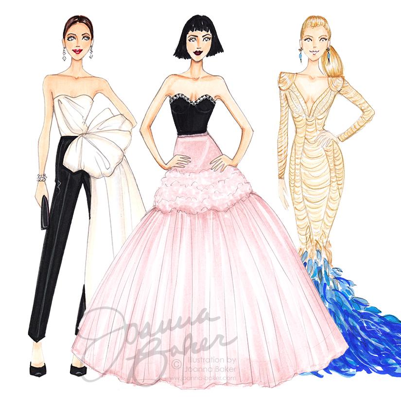 Met Gala 2017 Fashion Illustrations by Joanna Baker