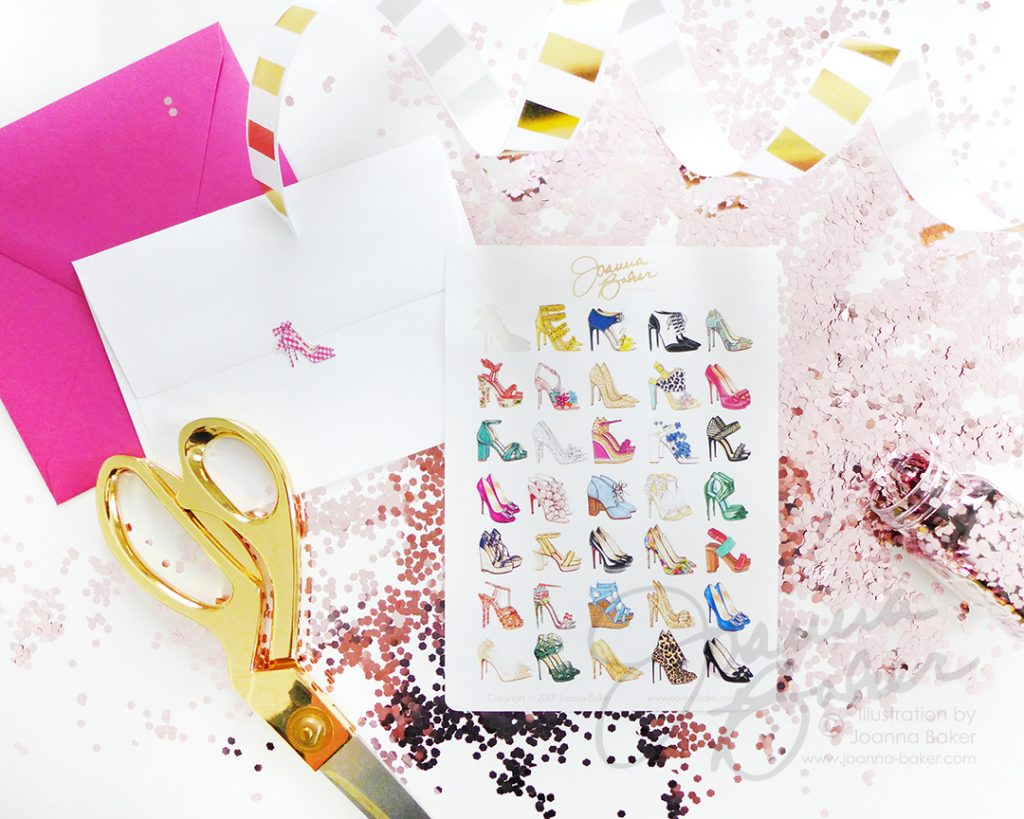 Fashion Illustration Shoe Stickers by Joanna Baker