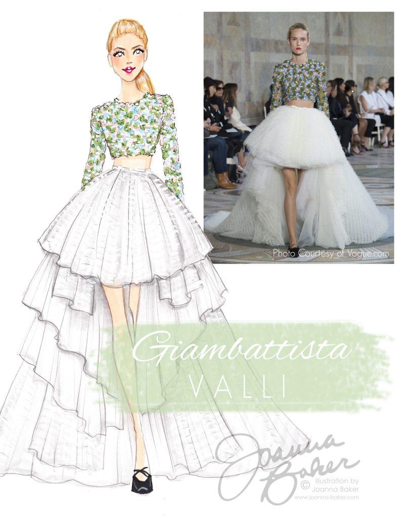 Giambattista Valli Couture Fashion Illustration by Joanna Baker