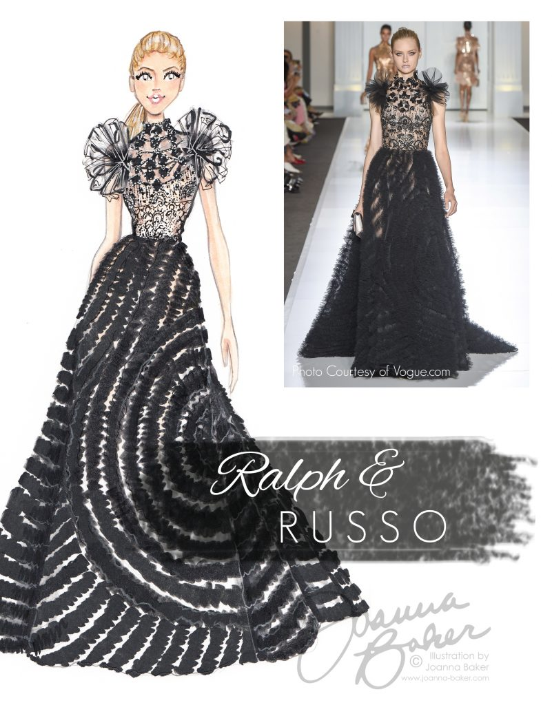 Ralph & Russo Couture Fashion Illustration by Joanna Baker