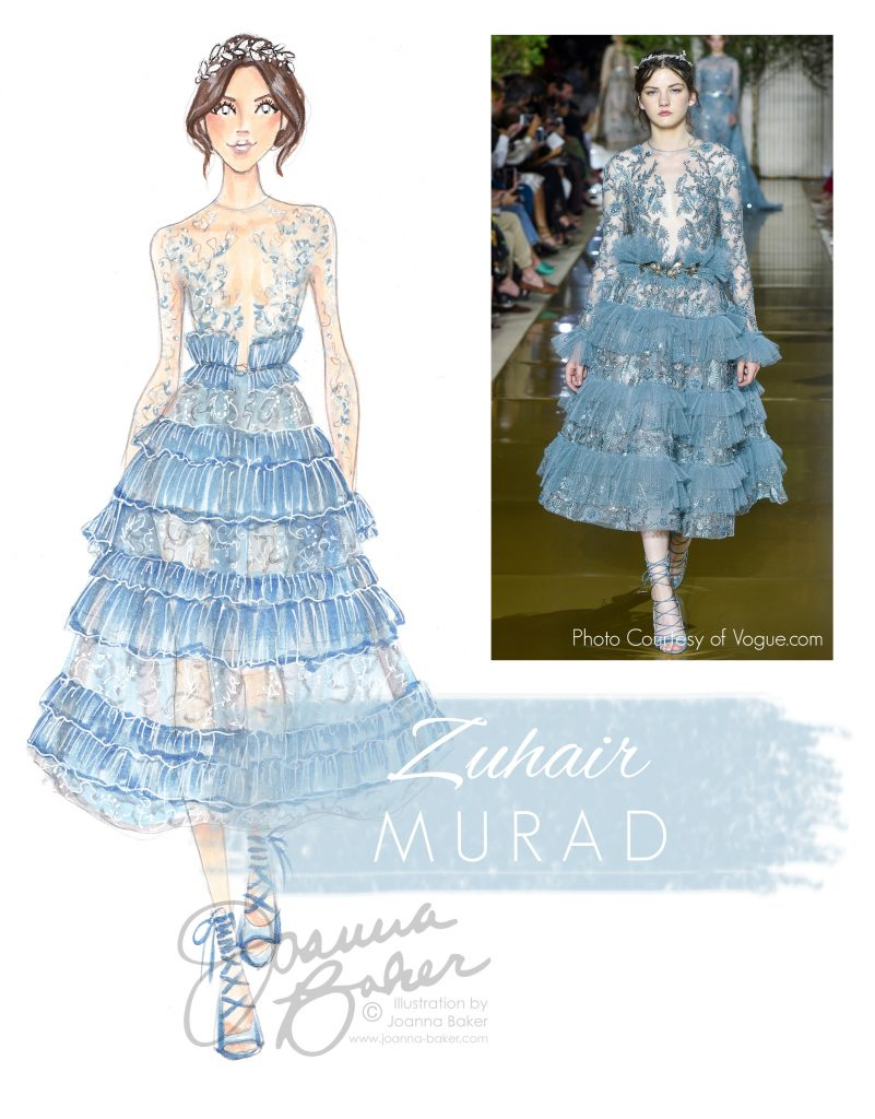 Zuhair Murad Couture Fashion Illustration by Joanna Baker